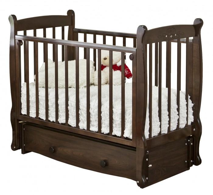 Детская кроватка Можга (Красная Звезда) Елисей С-717 Птички продольный маятник