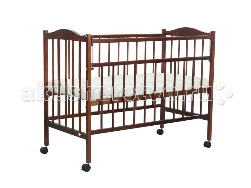 Детская кроватка Фея 203203Детская кроватка Фея203 изготовлена из натурального материала сбезвредным лакокрасочным покрытием.   Имеет прочную, легко собираемую конструкцию.Укроваткиимеются колеса, при помощи которых ее просто перемещать по комнате.  Перед молодыми новоиспеченными родителями очень часто встает актуальная проблема подбора детской кроватки. Интереснейшим домашним вариантом является модель Фея. Она изготовлена в особом дизайне, станет украшением каждого искусного интерьера.   Модель покрыта натуральным лаком, который имеет большой цветовой диапазон.  Кровать сертифицирована в соответствии с требованиями ТУ-5618-021-14734579-09. Конструкция кроватки обеспечивает компактность складывания при разборке для транспортировки и хранения.  Особенности: два положения ложа  ушко - механизм опускания планки  колеса  материал: массив березы   С инструкцией и комплектацией можно ознакомиться на фото.<br>