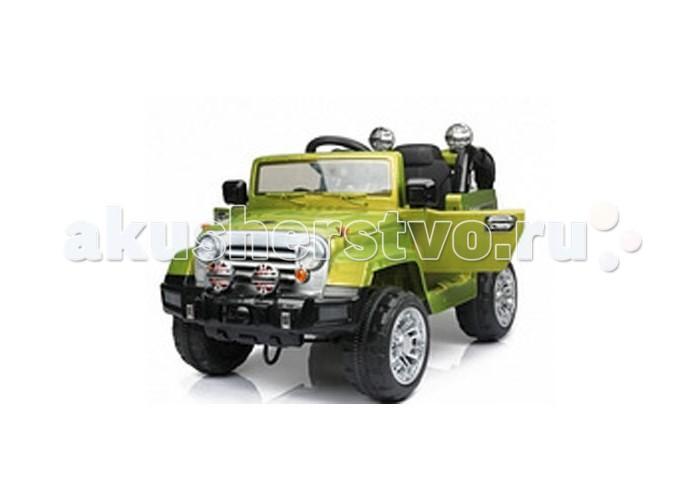 Электромобиль 1 Toy ДжипДжипЭлектромобиль 1 Toy Джип представляет собой одноместный джип. Открывающиеся передние двери электромобиля позволят ребенку удобно размещаться в салоне. При весе в 17.5 кг, джип выдерживает эксплуатационную нагрузку до 35 кг. Плавность хода электромобилю обеспечивают 4 колеса, изготовленные из ЭВА, чья глубина протектора обеспечивает ему большую проходимость трудных участков дорог.  Движущей силой джипа являются 2 электромотора, мощностью по 25 Вт каждый, которые разгоняют его до максимальных 6 км/ч. На пополнение полного энергозапаса уходит до 12 часов. Полностью заряженный аккумулятор обеспечивает электромобилю 2 часа непрерывной езды, в течение которых ребенок получит массу положительных эмоций.  В комплекте с джипом предусмотрен дистанционный пульт управления, который позволит ребенку просто наслаждаться поездкой, в то время как кто-нибудь из родителей полностью возьмет контроль над транспортным средством на себя. Дальность сигнала антенны контроллера достигает 20 метров.  Кроме этого, джип оснащен функционирующими фарами и звуковыми эффектами.<br>