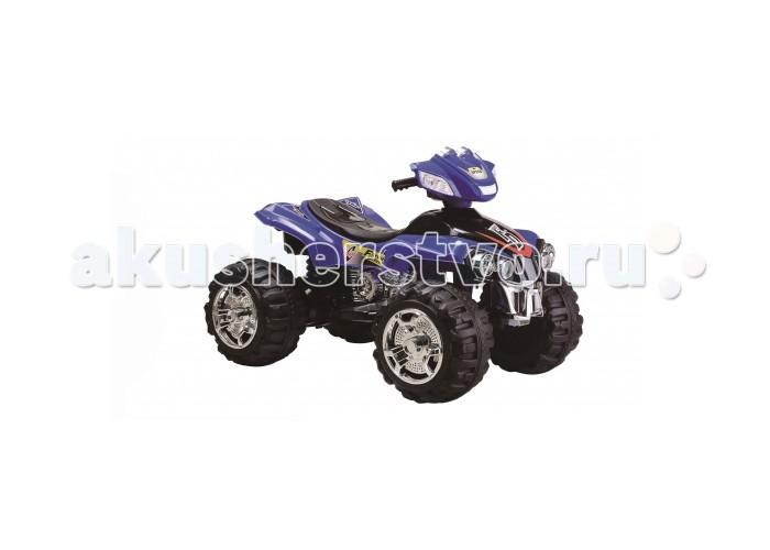 Электромобиль 1 Toy Квадроцикл Т11032Квадроцикл Т11032Электромобиль 1 Toy Квадроцикл Т11032 ребенок будет чувствовать себя так, будто он уже взрослый и управляет настоящей машиной. Квадроцикл имеет довольно большое сиденье, на котором можно удобно разместиться. Высоко расположенный руль с прорезиненными ручками расположен как раз на том уровне, где руки ребенка смогут его достать. Отдельного внимания заслуживают огромные колеса квадроцикла с тракторным рифлением. Они позволяют машине проехать и по камням, и по ямам, и по грязи или воде. Мощный мотор квадроцикла позволяет ему при желании развить просто ошеломительную скорость.  Езда малыша на квадроцикле выглядит очень эффектно, так как сопровождается различными громкими звуками, а также подсветкой. Со стороны может показаться, что это даже не детская машина, а настоящий внедорожник маленького размера.<br>