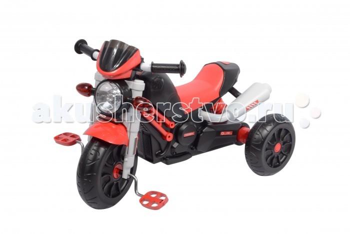 Велосипед трехколесный 1 Toy МотоциклМотоциклВелосипед трехколесный 1 toy Мотоцикл представляет собой трехколесный детский велосипед, стилизованный под настоящий мотоцикл. Он имеет характерные мотоциклу выхлопную трубу и амортизатор, а также удобное сиденье. Транспортное средство также оснащено фарой, двумя светоотражателями и звуковым сигналом. Переднее и заднее колеса имеют диаметр 10 и 8 см соответственно, что позволит с легкостью преодолевать небольшие препятствия. Велосипед имеет черно-красную окраску, подходящую как мальчикам, так и девочкам. Рекомендуется детям от 3 лет.  Особенности: диаметр переднего/заднего колеса: 10/8 максимальная нагрузка: 30 кг для детей от 3 лет колеса: пластмасса музыкальный чип со светом.<br>