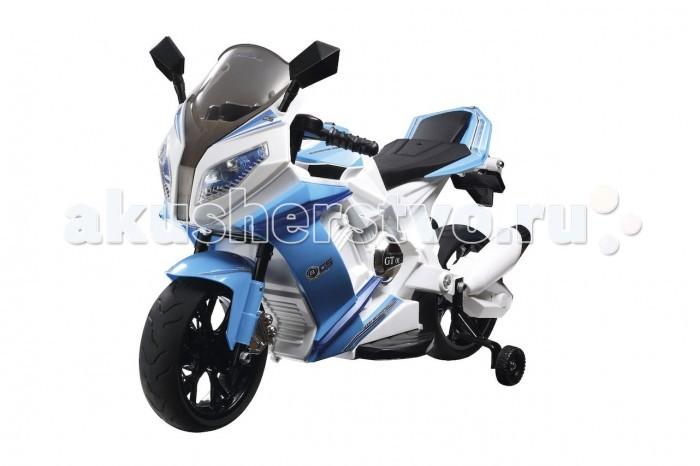 Электромобиль 1 Toy МотоциклМотоциклАккумуляторная машина Мотоцикл со звуковыми эффектами. Управляемый автомобиль - это самая желанная игрушка для мальчиков. Аккумуляторный детский мотоцикл в сочетании с мигающими фарами и звуковыми эффектами выглядит совсем как настоящий. Сидя в нем, ребенок почувствует себя настоящим водителем. Для безопасности мотоцикл оснащен страховочным колесом, которое можно снять или отрегулировать его положение. Предел максимальной скорости также не позволит ребенку получить серьезные травмы.  Особенности: Транспортное средство для детей от 3 до 7 лет Максимальная нагрузка 40 кг 2 мотора x 18W - новое поколение, ECO Задний амортизатор 6V 7A аккумулятор, 300 циклов Музыкальная панель Световые эффекты LED Mp3-вход Завод с кнопки EVA-колеса (мягкие не пробиваемые) Наличие дополнительных задних колес Скорость 2.5-6 км/ч (переключатель) Размеры мотоцикла: 99 x 41 x 65 см<br>