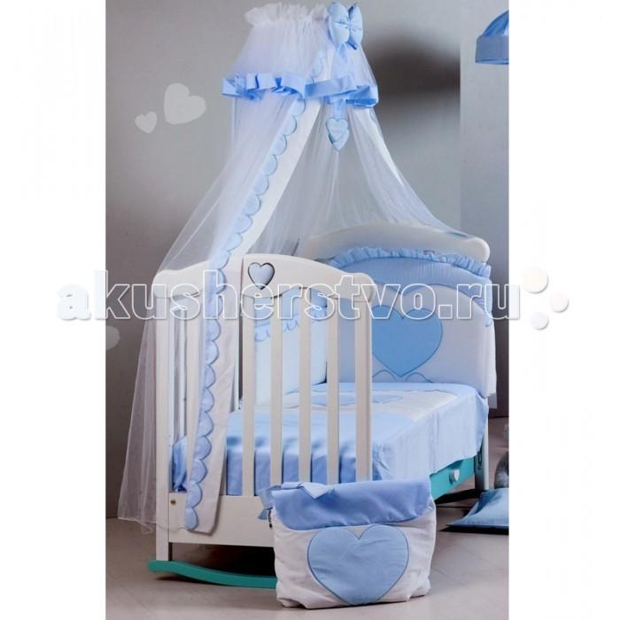 Балдахин для кроватки Roman Baby Cuore di Mamma с держателемCuore di Mamma с держателемБалдахин Cuore di Mamma с держателем изготовлен из первоклассных, гипоаллергенных материалов;  Все используемые красители не токсичны, и безопасны для вашего малыша;  Балдахин произведен в соответствии европейским стандартам качества;  Материал - тюль;   Благодаря высокому качеству материалов, постельное белье долговечно и легко стирается в режиме деликатной стирки.   Сшито в Италии;<br>