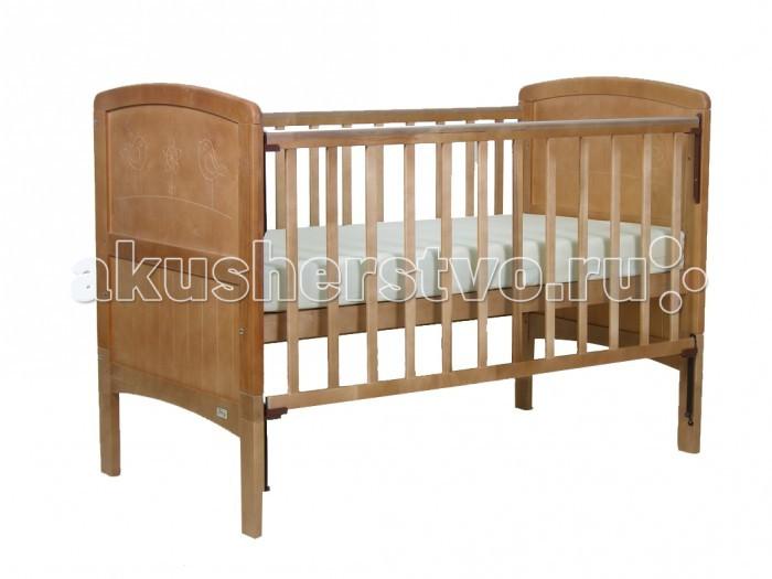 Детская кроватка Фея 820820Детская кроватка Фея 820 будет Вашим незаменимым помощником.  Кроватка подходят детям с рождения, до 3 лет она используется с боковыми ограждениями, а после того, как ребенок подрос - снимаются ограждения и нижние части спинок.  Особенности: Автостенка - механизм опускания одной рукой 2 положения ложа Ортопедическое основание Накладка ПВХ Материал: массив березы<br>