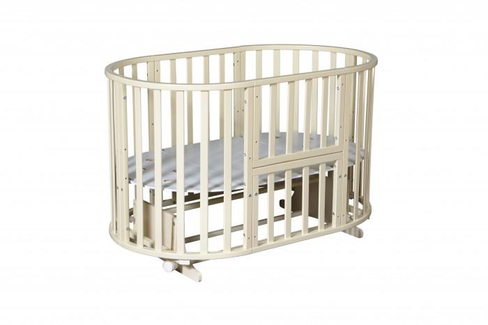 Кроватка-трансформер Антел Северянка-3 6 в 1 маятник поперечныйСеверянка-3 6 в 1 маятник поперечныйКровать-трансформер Антел Северянка-3 6 в 1 маятник поперечный по мере роста малыша кроватка будет меняться и всегда будет удобной и комфортной для ребенка.   Сделана из массива березы, все детали кроватки идеально гладкие, покрытые безвредным полиуретановым лаком.   С такой кроваткой детская комната будет стильной и уютной, а вашем ребенку будет комфортно, безопасно и очень удобно.  Особенности и преимущества кровати Северянка-3: Для детей с рождения. Сделана из массива березы. В комплекте идет поперечный маятник, который подойдет для круглой и овальной кроватки. У кроватки 6 вариантов сборки: круглая колыбель (возможность установки маятника) овальная кровать (возможность установки маятника) манеж диван стол + люлька столик + 2 стульчика Есть колеса для удобного перемещения кроватки по квартире. 3 уровня по высоте. Спальное место (см)круглая колыбель диаметр - 75 см; кровать - 125 x 75 см<br>