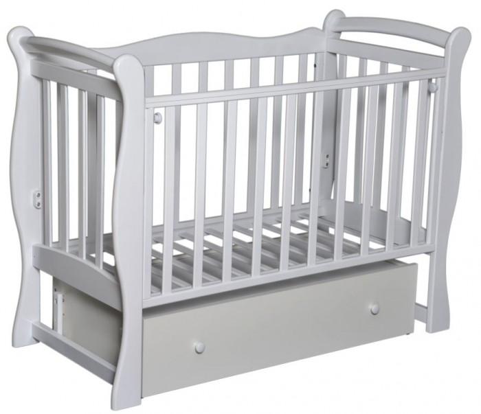 Детская кроватка Антел Северянка 1Северянка 1Детская кроватка Северянка 1 имеет поперечный маятник, производится из высококачественной натуральной древесины – массива березы, которая обладает высокой прочностью и эластичностью, так что мебель прослужит вам долго! Для окрашивания кроватки использовались исключительно экологичные лаки и краски, которые совершенно безопасны даже для деток с повышенной аллергической чувствительностью.  Мебель лишена острых углов и мелких деталей, которые несут риск травмирования ребенка.  Особенности: оборудована механизмом опускания передней стенки 2 уровня ложе закрытый вместительный ящик отличное качество обработки дерева и покраски<br>