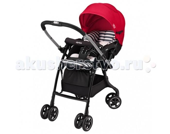 Прогулочная коляска Aprica Luxuna DualLuxuna DualПрогулочная коляска Aprica Luxuna Dual с автоматической блокировкой вращения колес.  Особенности: Cъемный матрасик-вкладыш, благодаря которой коляску можно использовать с удобством как с анатомическими вкладышами для новорожденных, так и с переноской-кенгуру. Очень легкая коляска с перекидной ручкой и капюшоном, раскладывающимся до бампера. Невероятно легкая и компактная, вес коляски всего 5.7 кг. Высокое сиденье 56 см от земли. Коляска самостоятельно и компактно стоит в сложенном виде. Коляска предназначена для использования с рождения. Имеется анатомический вкладыш для младенца, защищает и поддерживает в правильном положении головку и тело новорожденного. Мягкое зефирное сидение с системой анти-шок - защита от тряски при езде. Впервые в коляске Luxuna используется уникальный запатентованный материал Silkyair, который легко снимается, стирается и быстро сохнет (новое поколение Breathair, но с меньшим весом), обладает исключительной способностью поглощения вибрации и паропроницаемостью. С таким матрасиком Вы легко можете поддерживать чистоту в коляске Вашего малыша. Большой капюшон с вентилируемыми вставками, можно трансформировать в тент от солнца. Капюшон отражает 99% УФ лучей. На обратной стороне сидения имеется специальный отражатель, оберегающий от солнечных и тепловых излучений дорожного покрытия, предотвращая перегрев малыша. Такая система терморегуляции позволяет поддерживать оптимальную температуру тела ребенка при любой погоде. Пятиточечные ремни безопасности регулируются по высоте в зависимости от роста ребенка, легко трансформируются в трехточечные. Телескопическая регулируемая подножка. 4 пары поворотных колес с возможностью фиксации- Запатентованная система, благодаря которой при перекидывании ручки передние колеса автоматически освобождаются и становятся поворотными, а задние фиксируются. Коляска с перекидной ручкой позволяет сориентировать малыша по ходу или против хода движения для удобства родителей.