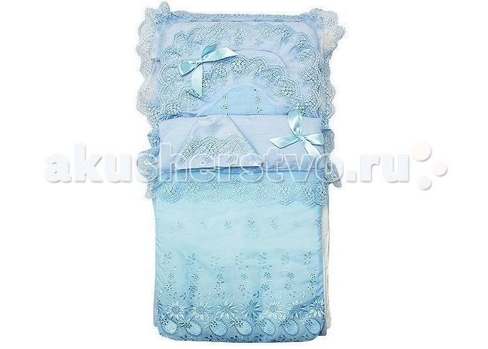 Комплект на выписку Арго 001/8 (8 предметов)001/8 (8 предметов)Арго Комплект на выписку (8 предметов) предназначен для самого первого в жизни выхода в свет - выписки из роддома.   В комплекте: Конверт - одеяло - 90 х 90 см Уголок нарядный Шапка нарядная Пеленка Распашонка Чепчик Косынка  Материал: сатин, шитье хлопок 100%  Наполнитель: холофайбер. 100 г.  Сезон: Лето<br>