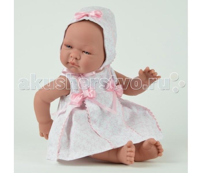 ASI Кукла 45 смКукла 45 смКукла-реборн, размер 45 см, полностью выполнена из винила, без волос, можно купать, Мария в розовом платье и чепчике, Пабло в голубом комбинезоне и шапочке, в комплекте пустышка, в красивой подарочной коробке.<br>