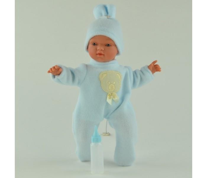 ASI Кукла Гугу 27 смКукла Гугу 27 смКукла, размер 27 см, тело мягконабивное, голова, руки и ноги из винила, без волос, в розовом или голубом комбинезоне и шапочке, в комплекте с бутылочкой, в красивой подарочной коробке.<br>