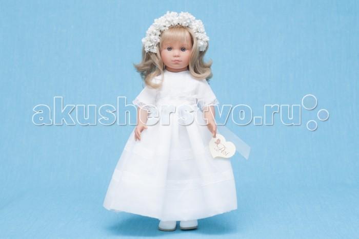 ASI Кукла Нелли 43 смКукла Нелли 43 смКукла, размер 43 см, выполнена из винила, длинные волосы, в пышном белом платье невесты, в красивой подарочной коробке.<br>