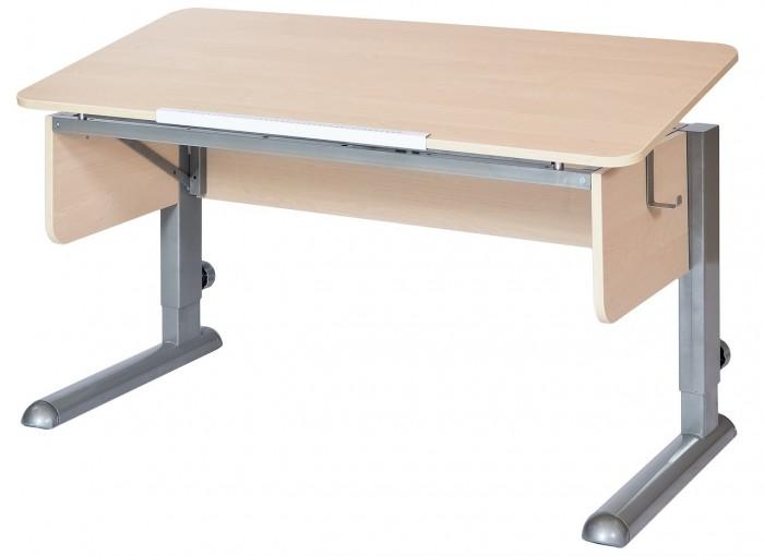 Астек Стол Моно-2 (столешница береза)Стол Моно-2 (столешница береза)Астек Стол Моно-2 (столешница береза) растет вместе с ребенком. Это возможно благодаря регулируемой высоте ножек парты. Уровень наклона столешницы тоже может изменяться от 0° до 45° с помощью ступенчатого механизма (10 положений).  «Приятные мелочи» в виде съемного крючка для портфеля сделают учебный процесс комфортней. Большая цельная столешница — единственное отличие от парты Твин.  Особенности: Большая цельная столешница шириной 115 см и глубиной 58 см; Парта подходит для роста ребенка от 112 см до 198 см; Ступенчатая регулировка столешницы от 0° до 45° (10 положений);<br>