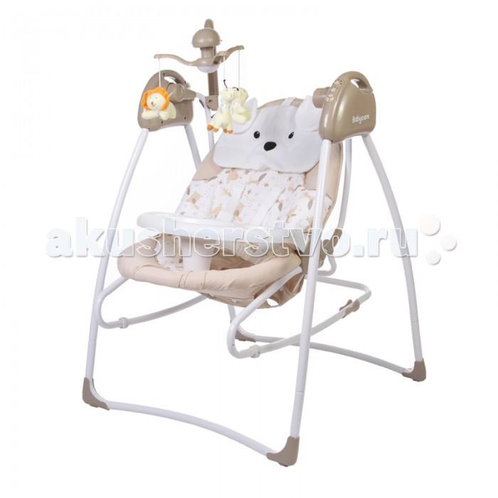 Электронные качели Baby Care Butterfly 2 в 1 с адаптеромButterfly 2 в 1 с адаптеромBaby Care Butterfly 2 в 1 - стильные электрокачели для новорожденных. Очень мобильная модель предназначена специально для родителей, которые не сидят на месте.   Имеется 3 положения спинки. Качели оснащены вибро-музыкальным блоком с таймером. Блок проигрывает 12 мелодий c регулировкой громкости. Имеется 5 скоростей укачивания. Электрокачели могут работать как от сети, так и на батарейках. Кроме того, в комплекте мобиль с игрушками.  Обивка качелей легко снимается для чистки и можно стирать в холодной воде. Для безопасности качели оснащены 5-точечными ремнями. Cиденье снимается и становится рокером-качалкой.  Особенности:  3 положения спинки  5-точеные ремни безопасности  5 скоростей укачивания  12 мелодий  регулировка громкости  таймер  мобиль  обивку сидения можно стирать в холодной воде  сетевой адаптер в комплекте   Размеры в разложенном виде - 78х69х101 см.  Размеры в сложенном виде - 69х69х106 см.  Расстояние от пола до сидения - 38 см.  Размеры сидения - 80х45 см.  Вес – 8.2 кг  Размер упаковки: 50.5х29х72.5 см.  Вес упаковки: 15 кг<br>