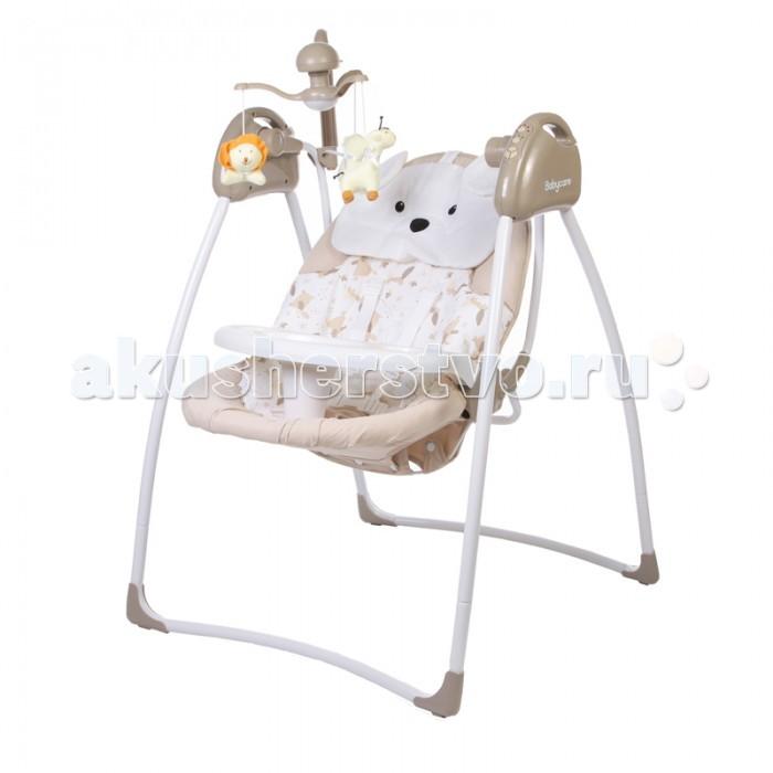 Электронные качели Baby Care Butterfly с адаптеромButterfly с адаптеромBaby Care Butterfly - стильные электрокачели для новорожденных. Очень мобильная модель предназначена специально для родителей, которые не сидят на месте.   Имеется 3 положения спинки. Качели оснащены вибро-музыкальным блоком с таймером. Блок проигрывает 12 мелодий c регулировкой громкости. Имеется 5 скоростей укачивания. Электрокачели могут работать как от сети, так и на батарейках. Кроме того, в комплекте съемная дуга с игрушками.  Обивка качелей легко снимается для чистки и можно стирать в холодной воде. Для безопасности качели оснащены 5-точечными ремнями.   Особенности:  3 положения спинки  5-точеные ремни безопасности  5 скоростей укачивания  12 мелодий  регулировка громкости  таймер  дуга с игрушками  обивку сидения можно стирать в холодной воде  сетевой адаптер в комплекте  Размеры в разложенном виде - 78х69х101 см. Размеры в сложенном виде - 54х69х106 см. Расстояние от пола до сидения - 38 см. Размеры сидения - 80х45 см. Вес – 7 кг<br>