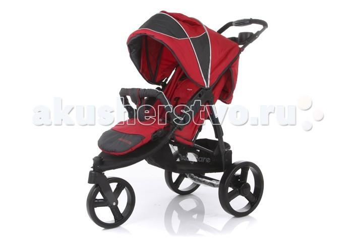 Прогулочная коляска Baby Care Jogger CruzeJogger CruzeПрогулочная коляска Baby Care Jogger Cruze - Интересный дизайн, глубокий капюшон, легка и удобна в управлении, легко управлять одной рукой, большие пластиковые колеса.  У прогулочной коляски Babycare Jogger Cruze большой глубокий капюшон, который накрывает ребенка даже при полностью опущенной спинке. Он сможет спрятать малыша от палящего солнца летом и от сильного ветра зимой.  Для холодов подойдет и накидка на ножки, которая идет в комплекте. Материалы коляски водоотталкивающие, поэтому осадки в виде снега и дождя не станут проблемой.  Для летних прогулок в комплектации предусмотрены дождевик и солнцезащитный козырек.   Для удобства малыша спинка опускается до горизонтального положения, а подножку можно отрегулировать, значит, ребенок сможет спокойно спать во время прогулки. Широкое сидение — 42 см — позволит разместить ребенка даже в теплой объемной одежде.  Особенности:   легкая алюминиевая рама;   материал коляски с водоотталкивающей пропиткой;  капюшон раскладывается до бампера с дополнительным козырьком;  пластиковые колеса;  усовершенствованная проходимость и маневренность;  переднее поворотное колесо 20см с возможностью фиксации;  большие задние колеса 27см;  механическое раскладывание спинки до 170 градусов;  легко складывается книжкой и компактна в хранении;  5-точечные ремни безопасности;  вместительная корзина из сетчатого материала для детских вещичек или покупок;  столик для мамы с двумя подстаканниками;  регулируемая подножка;  съемный бампер с накладкой;  Максимально допустимый вес: 18 кг.  Размеры Диаметр задних колес: 27 см.  Диаметр переднего колеса: 20 см.  Ширина колесной базы: 53 см.  Длина спального места: 80 см.  Ширина сидения: 42 см.  Длина сидения: 40 см.  Высота ручки от пола: 105 см.  Вес: 9 кг.   В комплекте: поднос для родителей, солнцезащитный козырек, дождевик, накидка на ноги.<br>