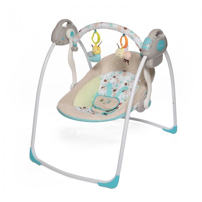 Электронные качели Baby Care RivaRivaЭлектронные качели Baby Care Riva с адаптером.  Особенности: 2 положения спинки 5-точеные ремни безопасности 6 скоростей укачивания 10 мелодий, 3 уровня громкости Дуга с игрушками Обивку сидения можно стирать в холодной воде Качели легко и компактно складываются Сетевой адаптер в комплекте Размеры в разложенном виде - 82х63х72 см Размеры в сложенном виде - 79х63х24 см Расстояние от пола до сидения - 25 см Размеры сидения - 66х41 см Вес - 4,5 кг Рекомендовано для детей c рождения до 6 месяцев (весом до 11 кг)<br>