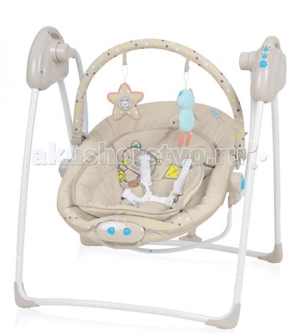 Электронные качели Baby Design LokoLokoЭлектронные качели Baby Design Loko  Яркие эмоции или спокойный и безмятежный сон подарят качели Baby Design Loko. А родители получат свободную минутку для отдыха или просто смогут наблюдать за потешными играми ребенка.  Особенности: Обеспечивают спокойное качание, с возможностью выбора 3-х скоростей . 12 мелодий на выбор помогут успокоить ребенка. Возможность настройки проигрывания мелодий на 15, 30 или 60 минут. Время качания можно настроить на 8, 15 или 30 минут. Механизм укачивания и музыкальный блок работают от сети (с помощью адаптера) и от батареек. Мягкие, яркие игрушки, подвешенные на дуге, способствуют развитию ребенка и станут для него развлечением. Обивку можно легко снять и выстирать. Имеют дополнительный мягкий вкладыш. Виброблок с 3-мя уровнями вибрации (работает только от батареек LR14 1.5B). Пятиточечные точечные ремни безопасности. Небольшие размеры в сложенном виде. Предназначены для детей весом до 9 кг. Размеры качелей: ширина: 65 cм, высота 70 cм, глубина 70 cм Размеры сиденья: ширина 40 cм, размер вкладыша 30 cм, высота 45 cм<br>