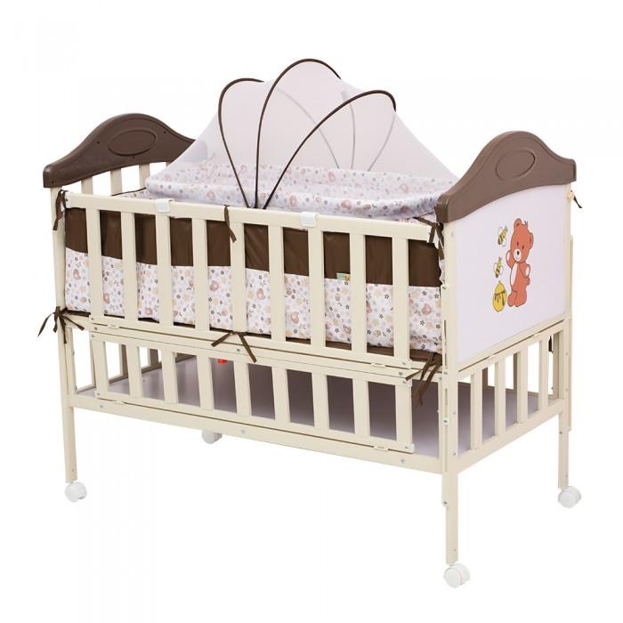 Детская кроватка BabyHit Sleppy ExtendSleppy ExtendДетская кроватка BabyHit Sleepy Extend  Особенности: Кроватка выполнена «под крашенное дерево» Профиль прямоугольного сечения Размер спального места 120 х 60 см. Откидной торцевой борт (увеличение длины спального места) Откидной боковой борт (для размещения рядом с кроватью мамы) Отсек для хранения 4 колеса со стопорами В комплекте: люлька для новорожденного с москитной сеткой, мягкие бортики, москитная сетка-балдахин<br>
