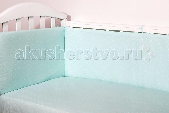 Бортики в кроватку Baby Nice (ОТК) Горох baby nice борт в кроватку 4 шт