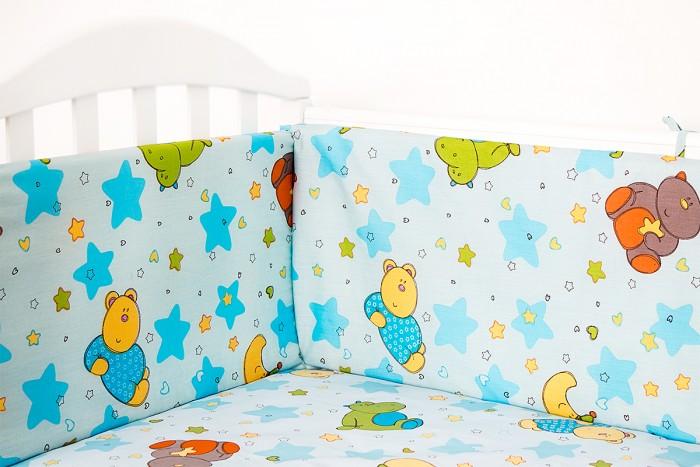 Бортики в кроватку Baby Nice (ОТК) Звездопад baby nice борт в кроватку 4 шт
