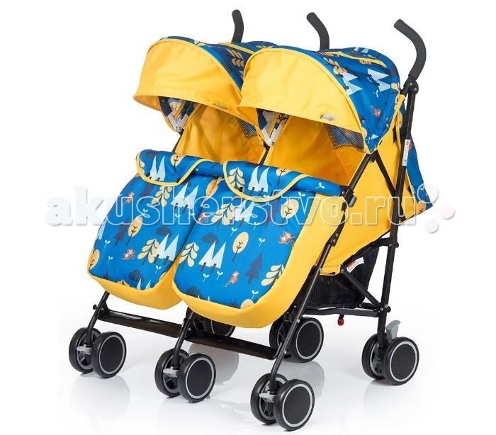 BabyHit TwiceyTwiceyКоляска для двойни Baby Hit Twicey это легкая и удобная новинка 2017 года для близнецов, которые уже сидят самостоятельно.   Двухместная коляска-трость – мобильное решение проблемы прогулок и поездок с двумя малышами в теплое время года. Интересные расцветки, основанные на контрастном сочетании однотонной и узорчатой тканей, будут радовать вас не один сезон.  Особенности:  Сдвоенные передние поворотные колеса с фиксацией в положении «прямо»  Капюшон «батискаф»  Съемный поручень с паховыми ремнями  Система амортизации на всех колесах  Регулируемые до положения «лежа» спинки  Регулируемые подножки  3-х точечная система ремней безопасности  Багажная корзина  Смотровое окно в капюшоне.  В комплекте:  полог  москитная сетка. Размер и вес:  Размеры в разложенном виде (ДхШхВ): 77 х 80 х 100 см   Размеры в сложенном виде(ДхШхВ): 97 х 55 х 36 см  Размер спального места(ДхШ): 69 х 32 см  Ширина сиденья: 32 см  Длина сиденья:  19 см  Высота спинки:  42 см  Высота до ручки: 100 см  Вес: 9.2 кг.<br>