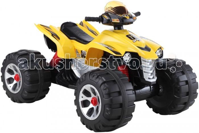 Электромобиль Bambini Big KvadroBig KvadroЭлектромобиль Bambini Big Kvadro  Большие пластиковые колёса с широким протектором, обеспечивают отличную проходимость по любым неровностям. Предназначен для детей от 3-х до 8-и лет. Приобретение этого квадроцикла подарит незабываемые впечатления и море эмоций Вашему ребёнку. Пусть Ваш малыш почувствует всю прелесть управления квадроциклом.   Эргономичный руль с нескользящим покрытием, возможность подавать звуковые сигналы, слушать музыку на МР3.  Мощная аккумуляторная батарея, которая позволяет без перерыва кататься 1.5 часа.  Возраст: Для детей от 3 х до 8 лет Нагрузка: до 30 кг Аккумулятор 12 вольт, 7 A/h Время работы 1 заряда бат. 1-1.5 часа Мощность мотора: 12 ватт. Скорость: 4.5 км/ч Количество скоростей: Две вперед, одна назад Звуковые и световые эффекты: Да (сигнал, свет фар) Колеса: 4 шт. из прочного пластика  Размеры квадроцикла: - 120 х 82 х 77 см Вес: 20 кг.<br>