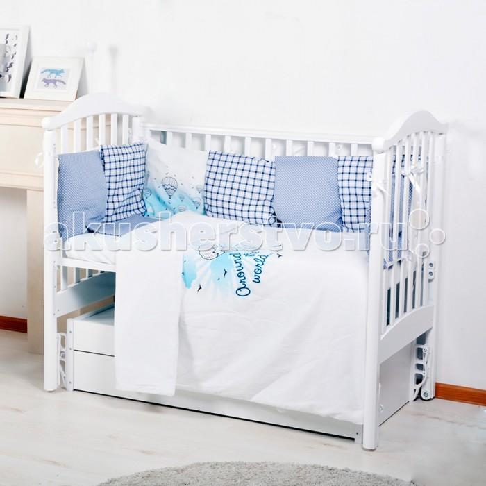 Комплект в кроватку BamBola Универсальный для стандартной и овальной кроватки 6 предметов