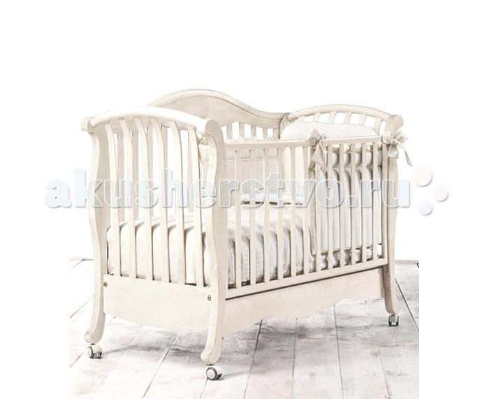 Детская кроватка Bambolina Cleo/DivinaCleo/DivinaДетская кроватка Bambolina Cleo/Divina любую комнату превращает в роскошные покои.   Классические античные мотивы и современные технологии объединяются в этой кроватке для того, чтобы предоставить родителям и малышу максимальный комфорт в изящной упаковке. Если Вы цените респектабельность и высокое европейское качество, эта кроватка - для Вас. Натуральный бук, изящная резьба, нетоксичные лаки и краски, широкие возможности регулирования и трансформации - все это кроватка Cleo.   Особенности: Съемный бортик: Кроватка превращается в диванчик Бортик регулируется по высоте Ложе регулируется по высоте: 2 уровня В комплекте: Ящик для белья Материал: бук Нетоксичные краски и лаки<br>