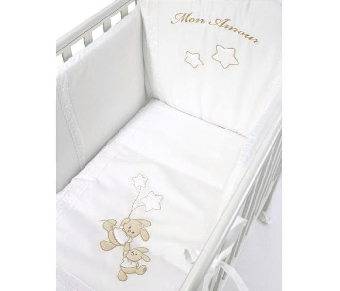 Комплекты в кроватку Bambolina Mon Amour (5 предметов) mon amour мюлес и сабо