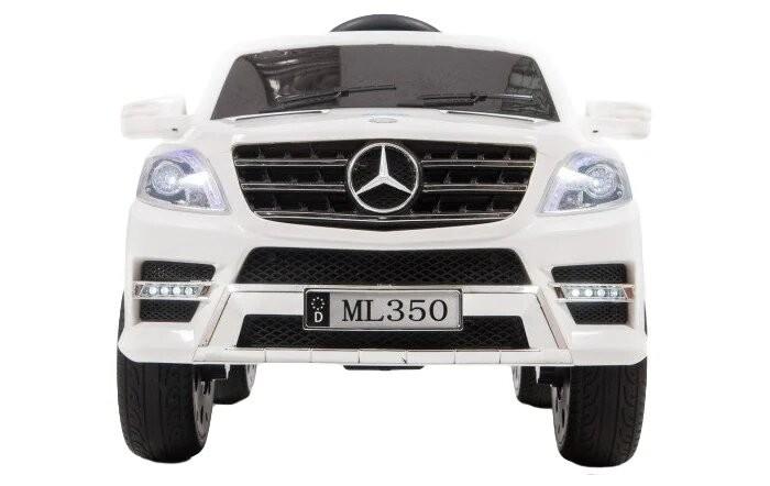 Электромобиль Barty Mercedes-Benz ML350Mercedes-Benz ML350Электромобиль Barty Mercedes-Benz ML350 создан специально для современных детей, которые привыкли к чему-то особенному и комфортному. Красивый дизайн электромобиля не может не радовать взрослых и малышей, которые уже обладают данным детским электромобилем, а также тех, кто только думает его приобрести для своего юного автомобилиста.   Детский электромобиль Mercedes-Benz ML350 полностью оправдает Ваши ожидания и Вы оцените данную модель при первом же использовании.   Особенности: Колёса EVA (каучук)                                                  Покраска-глянец Двери открываются                         Сиденье чехол эко-кожа                    Кожаный чехол на руль                             Зажигание кнопка Аккумулятор 12V7AH                          Двигатели 25Wх2 Пульт управления Bluetooth (2.4 G) USB вход, MP3, вход для карты SD, FM-радио                                                  Ремни безопасности 3х точечные             Диодные огни фар и стоп-сигналов Амортизаторы на все колёса                                    Максимальная нагрузка до 30 кг                              Максимальная скорость до 6 км/ч  Ручка-чемодан для перевозки на передних колёсах<br>