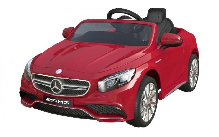 Электромобиль Barty Merсedes Benz S63 AMGMerсedes Benz S63 AMGЭлектромобиль Mercedes-Benz S63 AMG - лицензионная модель популярнейшего детского седана! Именно то что нужно юному автомобилисту. Рекомендован для детей от 3 года до 8 лет.  Максимальная нагрузка: 30 кг.   Каркас изготовлен из металлических элементов, а кузов из пластика, окрашенного глянцевой краской под металлик.  Форма кузова, фар, декор отделки салона, интересные для малышей функции и представительский внешний вид. Электромобиль оснащен высокими бортами, которые не дадут ребенку выпасть из машинки.  Анатомической формы кожаное сиденье с цельной спинкой и подголовником - дополнительно оснащено поясным ремнём безопасности, который удержит водителя. Для начала эксплуатации, электромобиль заводится нажатием на кнопку старта, издаёт звук заводящегося мотора, активируются опции и функционал. Газ и тормоз совмещены в одной педали: давление создаёт ход, а отпускание, полную остановку. Автоматическая коробка передач.  Две скорости движения вперёд от 3 до 7 км/ч. и плавный разгон с места, помогут водителю привыкнуть и адаптироваться к своей новой машине, кататься без рывков и не пугаться её. При движении задним ходом скорость достигает 3 км/ч., а зеркала помогут малышу сориентироваться относительно обстановки, развернуться или припарковаться.  Система питается от аккумулятора 12V 7Ah, который обеспечивает полную работоспособность и катание до 2 часов на одной подзарядке в зависимости от условий вождения и используемых опций.  Задний привод и два мотора суммарной мощностью 70 ватт создают хорошую производительность, помогают преодолеть ухабы или небольшие подъёмы.  Пульт управления для контроля на расстоянии свыше 50 метров - родители смогут осуществлять остановку, рулить, приводить машину в движение и менять скоростные режимы.  Эргономичной формы руль с удобным охватом и покрытием против соскальзывания рук - соединен с шасси таким образом, чтобы обеспечить максимально лёгкую управляемость.  Полностью резиновые