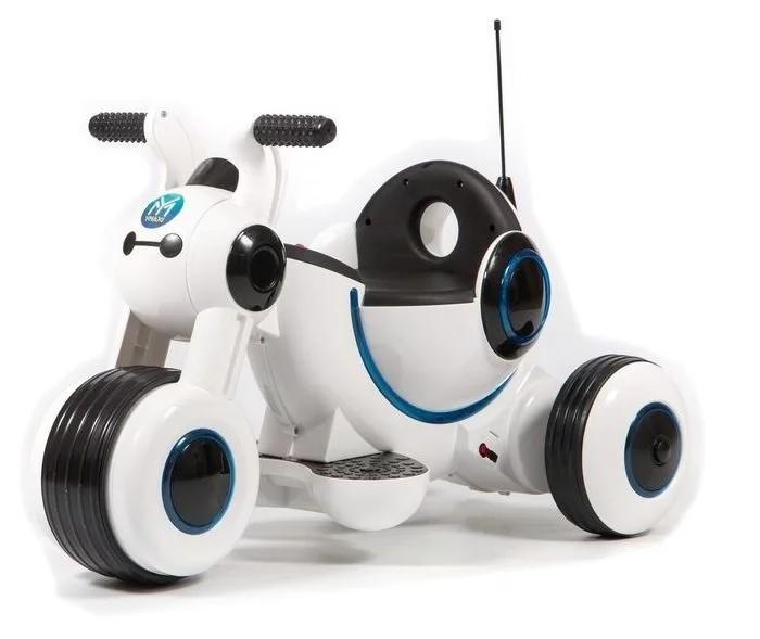 Электромобиль Barty Y-MAXI YM77Y-MAXI YM77Электромобиль Barty Y-MAXI YM77 - это первый самоходный транспорт вашего малыша. Он имеет стильный футуристичный дизайн, украшен яркими светодиодными огнями по всему корпусу. Для начала движения достаточно выбрать передачу с помощью кнопки и плавно нажать на педаль газа. Большие пластиковые колёса с резиновыми вставками пройдут любые преграды.  Особенности: одно посадочное место пластиковые колёса с резиновыми вставками управление педалью газа задний ход удобные ручки для держания прочная рама светодиодные огни колёса: ЕVA 2 аккумулятора 6 В/4,5 A/ч редуктор 15 В максимальная нагрузка: 30 кг мотор 18W.pbsp скорость до 4 км/ч сиденье: Пластик зажигание: переключатель звуковые и световые эффекты возрастная категория 2-5 лет.<br>