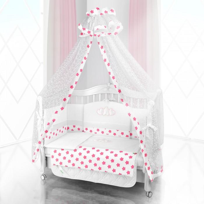 Комплект в кроватку Beatrice Bambini Unico Grande Stella 120х60 (6 предметов)Unico Grande Stella 120х60 (6 предметов)Комплект Beatrice Bambini Unico Grande Stella (120х60) выполнен в очень милом дизайне с использование декора в виде двух любящих сердец, окружающих маленькую звездочку. Данный сюжет напоминает домашнюю идиллию, когда два сердца мамы и папы окружают заботой маленького ребенка. С такой же заботой будет этот комплект окружать сон малыша своей мягкостью и тактильной нежностью.   Данный комплект идеально подходит для кроваток с габаритными размерами 120х60 см.  Все материалы, которые использовал итальянский производитель, проходили обязательную проверку по следующим параметрам:  соответствие экологическим и санитарным нормам отсутствие каких-либо аллергенов высокое качество и максимальная натуральность  В состав комплекта вошли такие постельные принадлежности как: подушечка правильной ортопедической формы одеяло с инновационным наполнителем, который будет поддерживать оптимальный температурный баланс у крохи наволочка и пододеяльник простынка с резиночками для фиксации съемные бортики, которые уберегут кроху от травматизма<br>