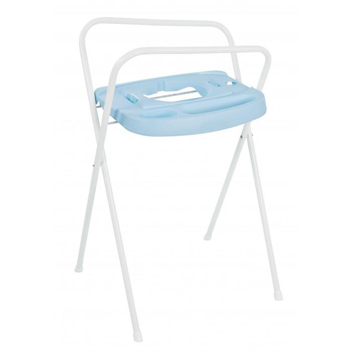 Bebe Jou Подставка металлическая под ванночкуПодставка металлическая под ванночкуПодставка под ванночку облегчает процесс купания малыша.   Как пользоваться подставкой  1. Разложите подставку до упора. Убедитесь, что подставка стоит на горизонтальной, ровной поверхности.  2. Поставьте ванночку на подставку. a. Термо ванночка Bebe Jou (арт. 6160). Ножки термо ванночки должны находиться в углублении на горизонтальной поверхности подставки. Бортики ванночки должны опираться на горизонтальные перекладины каркаса подставки, Вы должны услышать щелчок, подтверждающий, что ванночка установлена на подставке надежно; b. Круглая ванночка для купания новорожденных (арт. 6165). Эта ванночка устанавливается в специальное круглое отверстие в подставке. Бортики ванночки должны опираться на горизонтальные перекладины каркаса подставки, Вы должны услышать щелчок, подтверждающий, что ванночка установлена на подставке надежно; c. Ванночка для купания (арт. 6156). Ванночка устанавливается в углубление на горизонтальной поверхности подставки. Бортики ванночки должны опираться на горизонтальные перекладины каркаса подставки.  3. Если пользуетесь сливным шлангом, Вы можете закрепить его на каркасе с помощью небольшой клипсы.  4. После использования Вы можете сложить подставку. В этом случае она занимает мало места.  Высота подставки 98 см.<br>