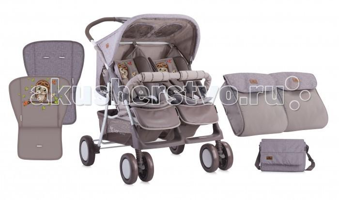 Bertoni (Lorelli) Коляска для двойни TwinКоляска для двойни TwinBertoni (Lorelli) Коляска для двойни Twin - это идеальный вариант для прогулки с 2-мя малышами. Яркие цвета, комфорт и маневренность обязательно понравятся Вам и Вашим деткам. Спинки сидений регулируются независимо друг от друга.  Особенности: Коляска для двойни предназначена для детей от 7-ми месяцев до 3-х лет Спинки сидений плавно регулируемые независимо друг от друга 5-ти точечные ремни безопасности надежно удержат малышей на месте Съемный бампер предназначен для дополнительной безопасности Подножки для ножек регулируются Солнцезащитные козырьки защитят малышей от палящего солнца  Капюшоны оснащены смотровыми окошками  Чехлы на ножки входит в комплект 6 колес: передние двойные, задние одинарные Передние колеса поворотные с фиксаторами Все колеса амортизированы Тормоз размещен на каждом заднем колесе Легко и быстро складывается одной рукой В сложенном виде занимает мало места Корзина для покупок входит в комплект Коляска изготовлена из высококачественных материалов Материал: пластик, текстиль, алюминий. Размеры и вес: Размеры коляски в разложенном виде (ШхГхВ): 78х88х105 см Размеры коляски в сложенном виде (ДхШ): 94х38 см Диаметр колес: 20 см Вес: 15,5 кг.<br>