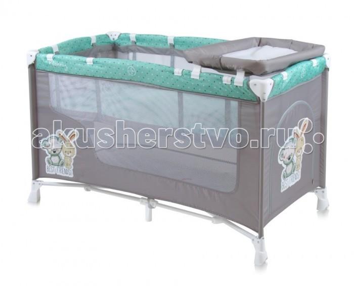 Манеж Bertoni (Lorelli) Nanny 2Nanny 2Манеж Bertoni (Lorelli) Nanny 2  Детский манеж-кроватка от болгарского бренда Bertoni Nanny 2 – это гарантированный комфорт вашего малыша!   Продукция компании сертифицирована и отвечает самым высоким стандартам качества и безопасности эксплуатации, одобрена нормами ЕС. Манеж-кроватка уместен не только в доме, но и на улице.  Особенности: Продукция изготовлена из высококачественных, экологичных материалов с антибактериальным покрытием Дно в Bertoni Nanny 2 имеет 2 уровня: одно для игр, второе для сна Дно жесткое, что гарантирует правильную поддержку спинки ребенка во время сна Bertoni Nanny 2 имеет центральную ножку, которая гарантирует не только дополнительную устойчивость, но и не дает прогибаться дну В сложенном виде конструкция занимает мало места, легко переносится в сумки, которая идет в комплекте. Процесс складывания предельно прост Bertoni Nanny 2 снабжена пеленатором, который устанавливается на борта манежа и еще есть защитный капюшон с дугой и игрушками Боковины прозрачные, так что вы всегда будете знать, чем занят ваш малыш Для деток, которые немножко подросли, можно открыть автовыход на торцевой панели<br>