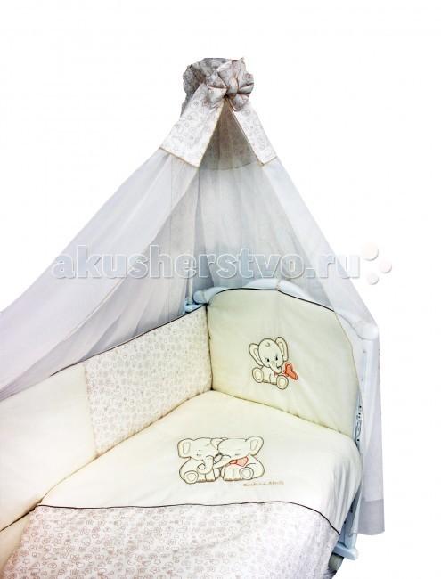 Комплект в кроватку Bombus Элефантики (7 предметов)