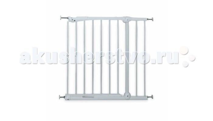 Brevi Ворота безопасности SecurellaВорота безопасности SecurellaБезопасные ворота Securella белого цвета необходимы не только для лестничных проёмов, но и чтобы создать закрытую территорию в других частях дома, таких как кухня, куда доступ ребёнку может быть закрыт.  Подходит для ребенка от 6 месяцев до 2,5 лет.  Для 2-х летнего ребенка практически невозможно открыть замок на барьере, но будьте осторожны, что взрослея ваш ребенок сможет его открыть!  Securella легко устанавливается в дверные и лестничные проемы, чтобы защитить ребёнка от возможных опасностей.   Благодаря специальным дискам с закручивающимися анкерами, может устанавливаться на неровную поверхность  Изготовлены из металла, покрытого не токсичной краской  Securella оснащена открывающейся калиткой с ручкой, которая может быть легко открыта одной рукой, позволяя взрослым пройти  Она открывается в двух направлениях, имеет замок безопасности  Высота: 77 см  Два размера:  Securella 75/79  Securella 90/94    Вес: от 1,8 до 5,6 кг. (см. картинку с размерами).<br>