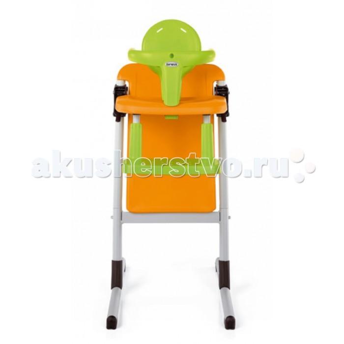 Стульчик для кормления Brevi SlexSlexСтульчик для кормления Brevi Slex  Стульчик Brevi Slex - это совершенно новый стульчик для кормления, который помогает быть ближе к своей семье с первых месяцев жизни, стимулирует развитие посредством близкого взаимодействия с взрослыми. Стульчик Slex легко трансформируется в удобный стул для чтения или отдыха, на котором также могут сидеть как мама, так и папа. Спинка, безопасный поручень и подставка для ног снимаются. Малыш фиксируется в стульчике 5-ти точечным ремнем безопасности. Дополнительно к нему можно приобрести подносик и мягкую вставку из смесовой хлопчатобумажной ткани для самых маленьких.  Особенности: соответствует нормам EN 14988 – EN 1728 стальная рама, сидение и спинка из полипропилена: как и все товары Brevi сделан из нетоксичных материалов в соответствии с международными стандартами безопасности с помощью двух простых рычагов сиденье легко регулируется в соответствии с ростом ребёнка (запатентовано) идеальны также и для высоких кухонных столов: максимальная высота сиденья - 72 см менее габаритный в отличие от традиционного стульчика, идеален для маленькой кухни эргономичная спинка имеет два положения в зависимости от возраста ребёнка съемный безопасный поручень регулируется в соответствии с возрастом ребёнка 5-титочечные ремни безопасности 5 позиций регулируемой подставки для ног, позволяют правильно подобрать положение опоры для ног малыша легко моется при помощи влажной ткани  Особенности: 1 - Со стульчиком Slex вы способствуете развитию коммуникабельности  Slex – это совершенно новый стульчик для кормления, который:  помогает малышу быть ближе к своей семье с первых месяцев жизни.  стимулирует развитие по средством близкого взаимодействия со взрослыми.  Со стульчиком Slex ваш ребёнок наконец-то может  есть за большим столом, где так много всего интересного  сидеть на одном уровне со взрослыми, что усиливает чувство защищённости и увеличивает любопытство.  2 - Ваши дети сидят правильно в любом возрасте Эргоно