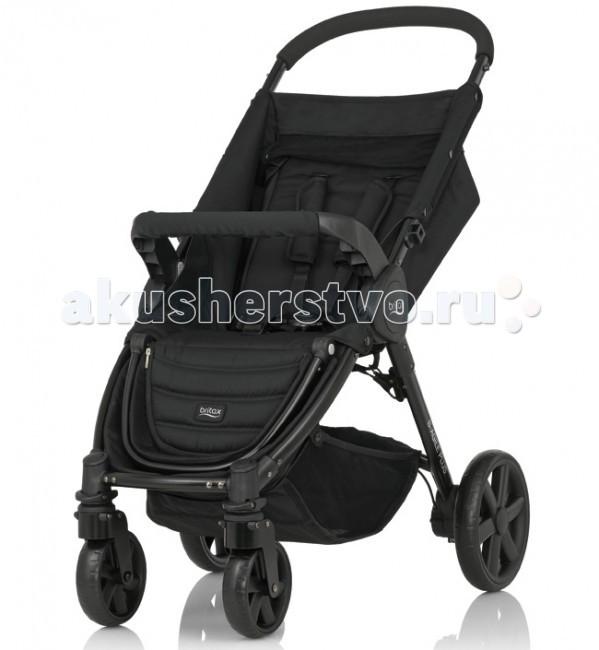 Прогулочная коляска Britax В-Agile 4 PlusВ-Agile 4 PlusПрогулочная коляска Britax В-Agile 4 Plus с уникальной системой сложения одной рукой! Легкая и маневренная – она сделает прогулку с малышом максимально удобной и комфортной!   Благодаря адаптерам CLICK&GO, которые приобретаются отдельно, на шасси коляски B-Agile 4 Plus Вы можете установить автолюльку Baby-Safe Sleeper или любое автокресло Romer группы 0+.   Особенности: Благодаря регулируемой спинке, которую можно установить в полностью горизонтальное положение, коляска подходит для детей с рождения и до 15 кг (примерно до 4 лет)  Легкая алюминиевая рама  Упрощенная система складывания коляски одной рукой  5-точечные ремни безопасности  Поворотные передние колеса с возможностью фиксации  Износостойкие покрышки  Большая корзина для покупок (максимальная нагрузка - 4 кг) Возможна дополнительная установка люльки в качестве опции  Очень просторный капюшон с солнцезащитным козырьком обеспечит дополнительную защиту от ветра, дождя, снега или солнца (приобретается отдельно, цвета на выбор)  Компактные размеры в сложенном виде: 41х58х73,5 см.<br>