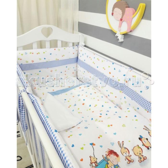 Комплект в кроватку ByTwinz Игрушки Классика (6 предметов)Игрушки Классика (6 предметов)Комплект в кроватку ByTwinz Игрушки Классика (6 предметов) станет настоящим украшением любой детской и подарит малышу много сладких снов.   Особенности: Невероятно нежные и уютные комплекты.  Материалы только полностью натуральные и гипоаллергенные: 100% хлопок. Наполнитель в подушках холлофайбер гиппоаллергенный, экологически чистый  Наполнитель в подушке детской и одеяле холофайбер  В комплекте: Простыня на резинке на резинке подходит для кровати 120х60 см и 125х65 см Наволочка 36х46 см Пододеяльник 105х145 см Подушка 35х45 см  Одеяло 100х140 см  бортики на завязках со съемными наволочками - размером 360х45 см<br>