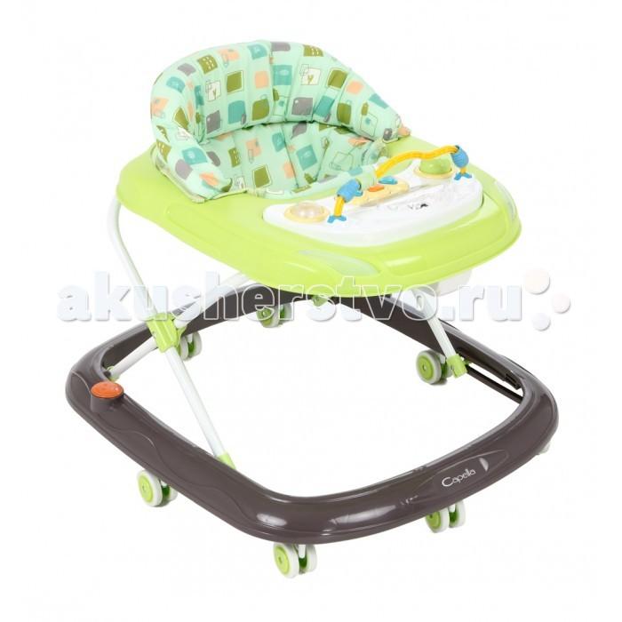 Ходунки Capella BG-0619BG-0619Capella BG-0619 - ходунки рекомендованы для детей в возрасте от 6 месяцев до 1.5 лет.  Удобные, легкие ходунки обеспечивают максимальную безопасность первых самостоятельных шагов малыша.  Оснащены колесами, для удобства использования имеются стопоры на колесах, благодаря которым вы можете контролировать передвижение ребенка.  В зависимости от роста и возраста малыша, высоту ходунков возможно регулировать в нескольких положениях, выбрав наиболее удобное.  Яркая игровая музыкальная панель привлечет внимание ребенка и его пребывание в ходунках будет еще более интересным.  Возраст ребенка: от 6 месяцев до 1.5 лет Колеса силиконовые Материал: металл Вес: 3 кг Дополнительно: складывается гармошкой Максимальный вес ребенка: 12 кг Особенности: музыкальные<br>