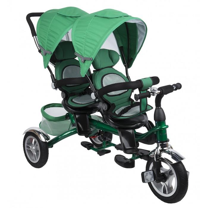 Велосипед трехколесный Capella для двойни Twin Trike 360для двойни Twin Trike 360Capella Велосипед трёхколёсный для двойни Twin Trike 360 - это новый усовершенствованный детский трехколесный велосипед. Модель, благодаря, которой, прогулка для мамы и двух ее детишек станет комфортной. У велосипеда реверсивные сидения которые можно устанавливать за и против движения, удобные, высокие сидение с мягким вкладышем. Пока дети не научатся самостоятельно кататься на велосипеде, вы сможете совершать с ним прогулки, как в прогулочной коляске. Дети будут удобно сидеть, поставив ноги на подножку и пытаться рулить, в то время как мама будет катать их, используя родительскую ручку. Дети могут меняться по очереди - кто-то будет рулевым (водителем) и кто крутить педали, а кто-то отдохнет сзади, переводя дух и ощущая себя пассажиром и будет глазеть по сторонам. Чуть позже, осваивая педали, вы сможете уберечь неопытных велосипедистов от случайного падения во время поворотов.   Capella – один из ведущих мировых брендов на рынке детских товаров. Вся продукция сертифицирована и отвечает самым строгим европейским стандартам.   Особенности: корзина для продуктов  родительская ручка с модернизированной рукояткой  бампер для безопасности малыша  складной капор от солнца  подножки  широкие проходимые надувные колеса переднее сиденье поворачивается на 360 градусов устойчивая безопасная конструкция Удобный и функциональный велосипед  подарит вашим малышам много радости и удовольствия от быстрой и комфортной езды!<br>