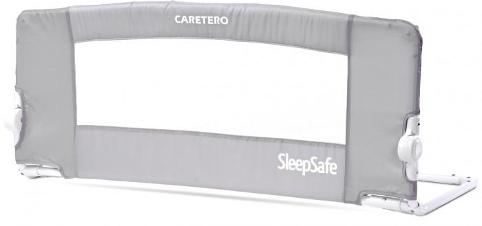 Caretero Барьер безопасности для кроватки SleepSafeБарьер безопасности для кроватки SleepSafeCaretero Барьер безопасности для кроватки SleepSafe размером 103.5&#215;42.5 см.  Особенности: Может использоваться с матрасами размеров:  – минимальный размер: 60&#215;150 см  – максимальный размер: 155&#215;190 см  – толщина: от 10 до 20 см Простой и удобный монтаж  Надежные и долговечные материалы обеспечивают максимальную безопасность Новый дизайн, универсальная цветовая палитра Возможность регулировки угла наклона поручня снаружи кровати, когда не используется Компактные размеры при полной сборке ограждения Сумка для переноски в комплекте Легкая конструкция  Перила соответствует стандарту BS 7972<br>