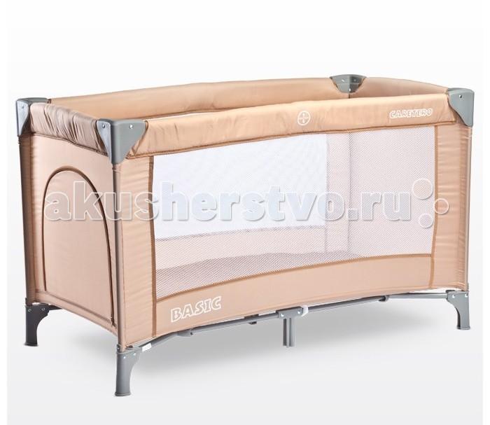 Манеж Caretero BasicBasicМанеж Caretero Basic  С мыслью о родителях, которые ищут основную кроватку, подходящих как для путешествий, так и для дома, мы создали новинку: модель Basic Кроватка Caretero Basic отличается простой, надежной конструкцией, простотой использования, а также оригинальным дизайном и великолепной ценой, которая порадует каждого родителя Кроватка оснащена матрасом 120 x 60 см и сумкой, которые идеально подходят для использования в путешествиях Со всеми аксессуарами весит всего 9 кг! туристическая кроватка подходит для детей весом до 15 кг Применяемые ткани прочны и легко поддерживаются в чистоте Дверца на замочке, позволяет ребенку самостоятельно входить в кроватку прилагается складываемая походная люлька кроватка устойчива, благодаря надежным ножкам В комплекте удобная сумка для переноски сложенной кроватки пастельные тона обивки в 6 версиях сделают кроватку идеальной для интерьера квартиры  Размер: 76 х 66 х 125 см Вес ребенка: до 15 кг<br>