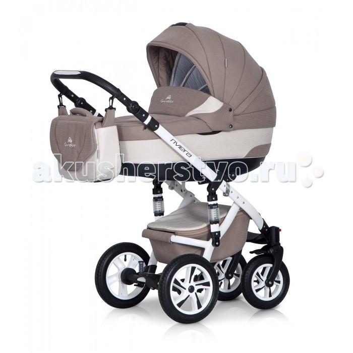 Коляска Caretto Riviera 2 в 1Riviera 2 в 1Детская коляска Caretto Riviera 2 в 1 выглядит элегантно и очень современно. Технические характеристики продуманы до мелочей, здесь есть все, что необходимо малышу с рождения до 3 лет. Люлька и прогулочный блок в детской коляске устанавливаются на шасси в обоих направления, что делают ее удобной и многофункциональной для родителей.   Поворотный механизм на передних колесах и двойная регулируемая амортизация делают коляску маневренной и плавной при вождении на неровных дорогах зимой в снег и в сезон дождей. Caretto Riviera 2 в 1 – это модель для тех, кто любит следить за модой и с комфортом растить малыша.  Особенности:  модульная система для детей с рождения до 3 лет максимальная нагрузка – 15 кг вариант – зима-лето установка модулей в 2 направлениях возможность установки автокресла регулируемая высота ручки на несколько уровней пластиковый цельнолитой корпус с жестким дном овальное дно с особой конструкцией снаружи выполняет функцию качалки высокие борта не продуваемые, безопасные от ударов внутренняя мягкая обивка — из натурального хлопка, съемная для стирки ортопедический матрас с натуральным наполнителем диапазон регулирования ручки 77-121 см  прогулочное кресло: ширина – 32 см, высота спинки – 41 см, глубина – 25 см люлька: длина – 80 см, ширина – 37 см, высота – 22 см<br>