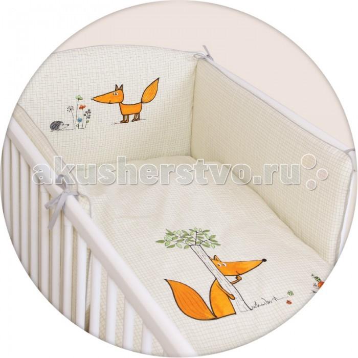Постельное белье Ceba Baby Fox с вышивкой (3 предмета)Fox с вышивкой (3 предмета)Постельное белье Ceba Baby Fox с вышивкой (3 предмета) отвечает самым высоким стандартам качества.  Особенности: комплект постельного белья для детской кроватки;  ткань: 100% хлопок;  комплект украшен нарядной вышивкой;  чехол бортика – съёмный на молнии, разрешена машинная стирка в деликатном режиме;  все используемые материалы сертифицированы в соответствии с Oeko-Tex® 100, класс I (текстильные изделия для детей).   В комплект входят:  пододеяльник 100х135 см;  наволочка 40х60 см;  мягкий бортик 200х32 см.<br>