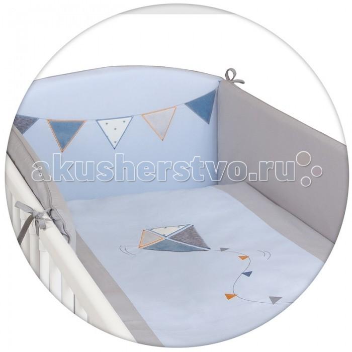Постельное белье Ceba Baby Kite с вышивкой (3 предмета)Kite с вышивкой (3 предмета)Постельное белье Ceba Baby Kite с вышивкой (3 предмета) отвечает самым высоким стандартам качества.  Особенности: комплект постельного белья для детской кроватки ткань: 100% хлопок комплект украшен нарядной вышивкой чехол бортика – съёмный на молнии, разрешена машинная стирка в деликатном режиме все используемые материалы сертифицированы в соответствии с Oeko-Tex® 100, класс I (текстильные изделия для детей).   В комплект входят:  пододеяльник 100х135 см наволочка 40х60 см мягкий бортик 200х32 см.<br>