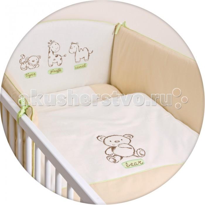 Постельное белье Ceba Baby Little Zoo с вышивкой (3 предмета)