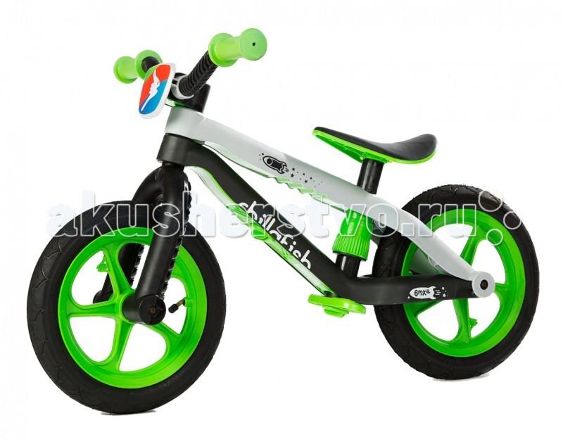 Беговел Chillafish BMXie-RSBMXie-RSБеговел в стиле трюкового Chillafish BMXie-RS - самый яркий и легкий детский беговел от бельгийской компании Chillafish, выполненный в стиле настоящего усиленного трюкового велосипеда BMX. Сходство с велосипедами вида BMX достигается за счет руля и двойной рамы.  Рама выполнена из армированного стекловолокна, что дает большую легкость и надежность.  Колеса у беговела - ПВХ , что также добавляет сходства и делает его настоящим велосипедом без педалей - для маленьких гонщиков. Сиденье регулируется без ключа. Это значит, что можно на прогулке в любой момент отрегулировать его под свои пожелания.  Еще важный момент: подножка у беговела Chillafish BMXie-RS - складная, что удобно, поскольку когда не нужно, то ее можно убрать. Заслуживает внимания яркий зрелищный дизайн велобега, который подчеркивает его скоростные качества и поднимает настроение.  На что хочется обратить внимание, так это на надежность детского транспорта при достаточно малом весе. Всего 3,8 килограмма при наличии ПВХ колес и двойной рамы.  Особенности беговела Chillafish BMXie-RS: Соответствует европейским стандартам качества EN71, ASTM F963 Сходство с настоящими трюковыми велосипедами Очень легкий Яркий, зрелищный дизайн от бельгийской компании Chillafish Надежная конструкция из армированного стекловолокна ПВХ колеса с яркими ободами Сиденье регулируется без специального ключа Складная подножка Габариты товара (Д х Ш х В) - 68 см х 17 см х 30 см; Яркая табличка с логотипом Chillafish спереди диаметр колес - 12; вес товара в упаковке - 4.7 кг; Размер (дхшхв) 70х37х64 см; Высота руля (не регулируется) - 52 см; Высота сидения регулируется от 32 до 40 см.<br>